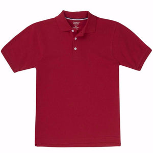 Toddler unisex S/S French Toast pique polo w/GDA logo - Red