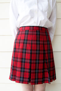 GIRLS/JUNIORS Box Pleat Skirt (Plaid)