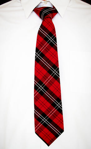 Loop Clip Neck Tie (Plaid)