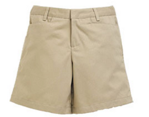 Juniors Flat Front Short Khaki