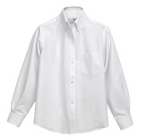 GIRLS/WOMENS Button Down Oxford Blouse (White)