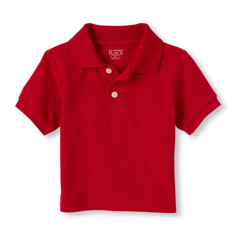 Toddler boys S/S The Children's Place solid pique w/GDA logo - Red
