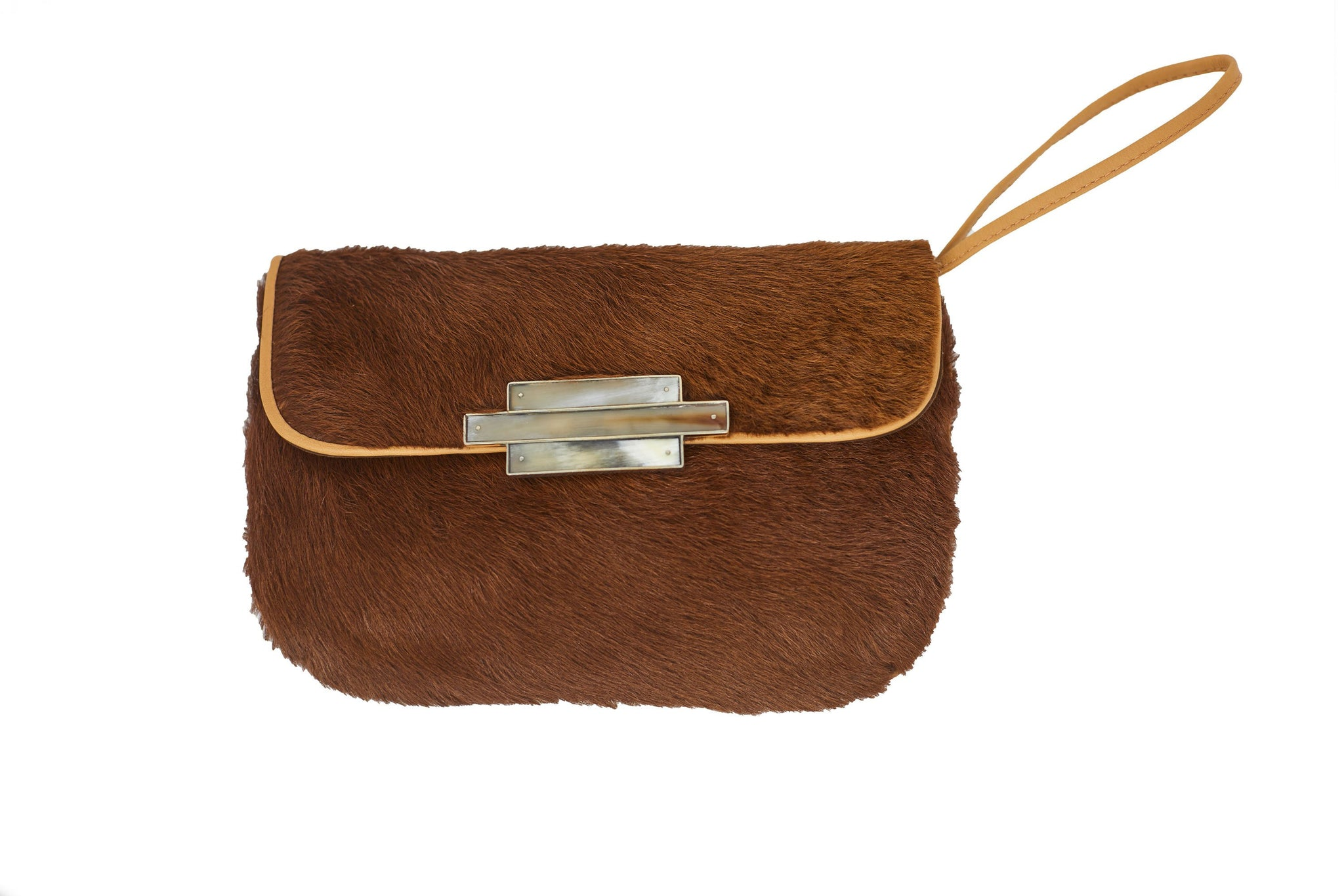 Tan Nite Pony Clutch Wristlet