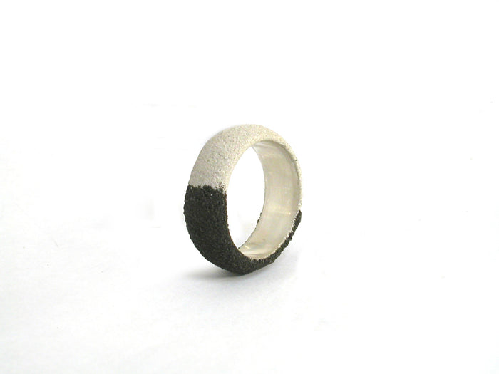Silver and Oxidized Silver Band