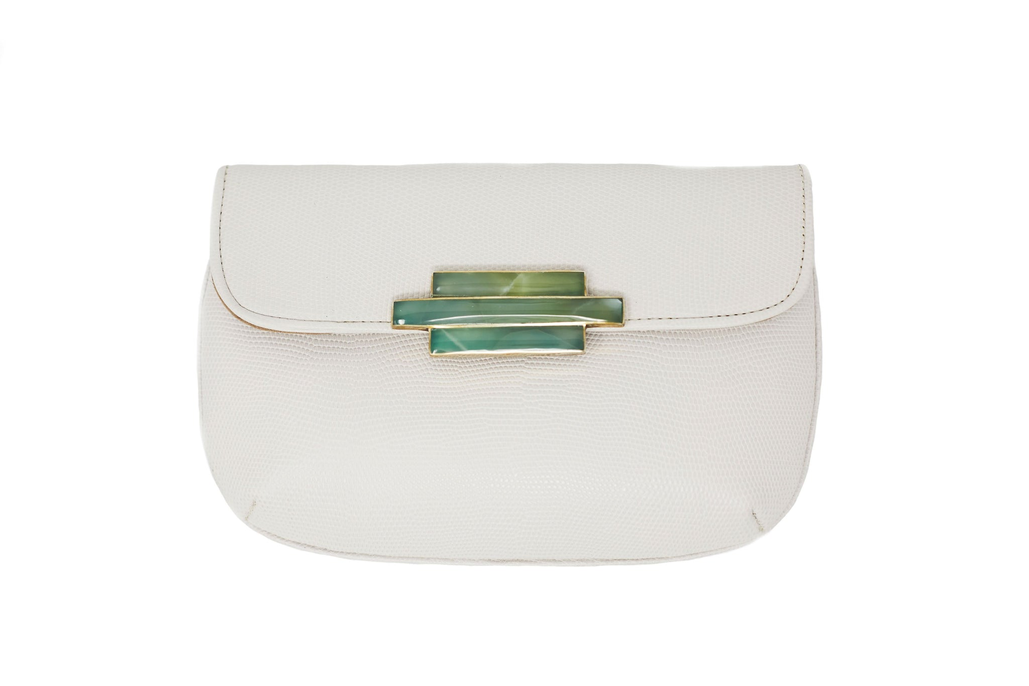 Bone Nite Leather Clutch Wristlet - Lesetta