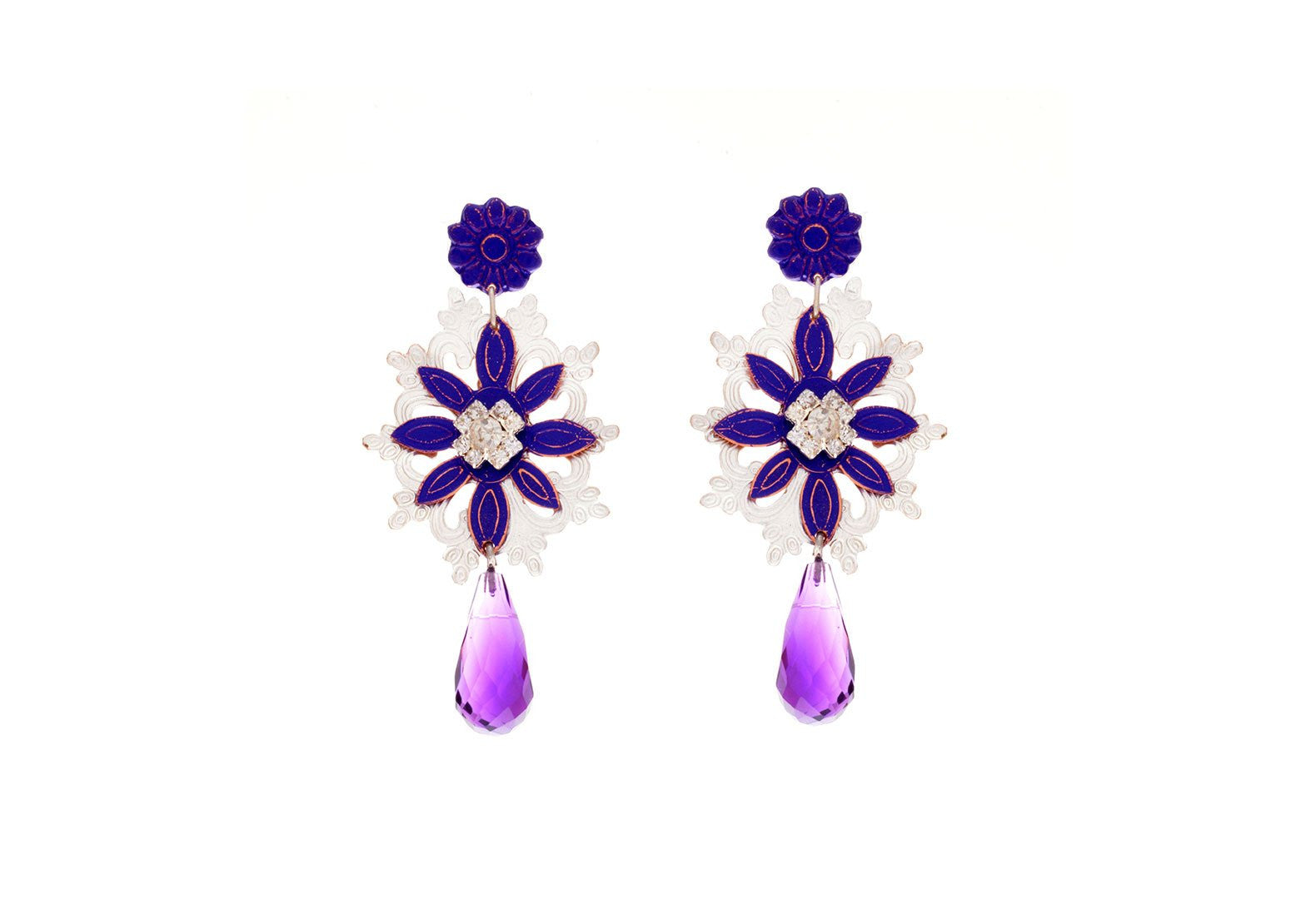 Flora Drop Colgante Earrings - Lesetta