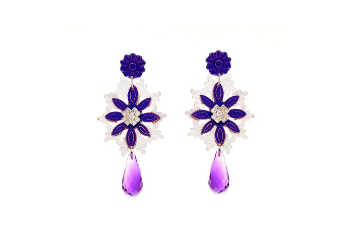 Flora Drop Colgante Earrings, Valentina Rosenthal Jewelry, Found By Lesetta