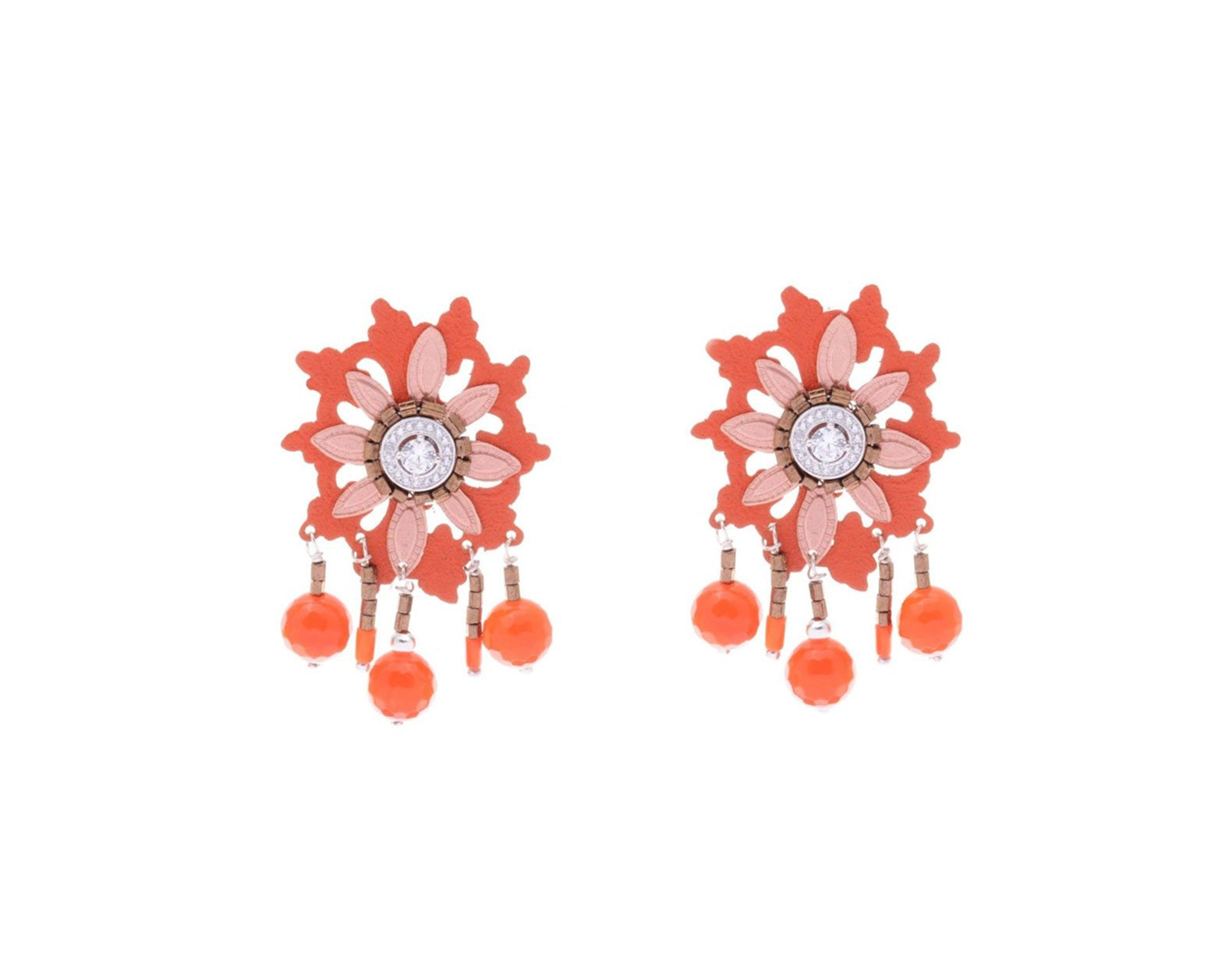 Flora Florido Earrings - Lesetta