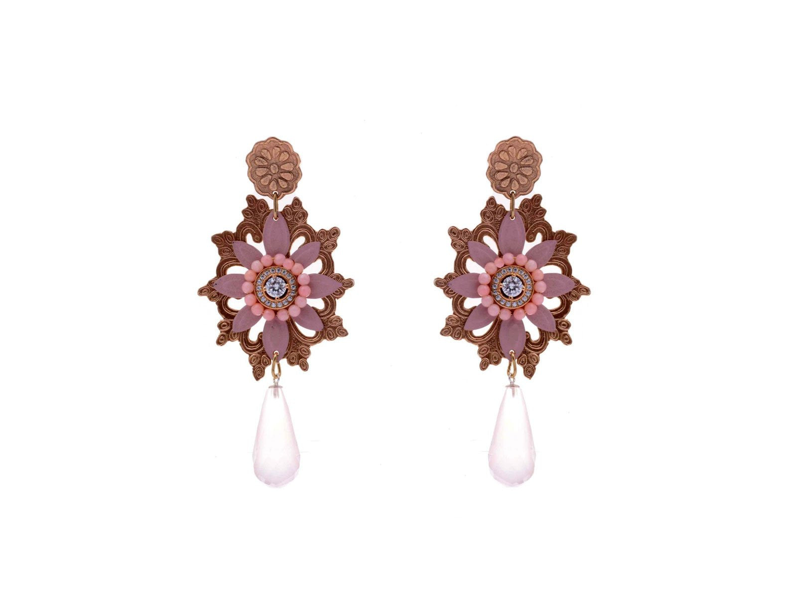 Flora Lirio de Cordillera Earrings, Valentina Rosenthal Jewelry, Found By Lesetta
