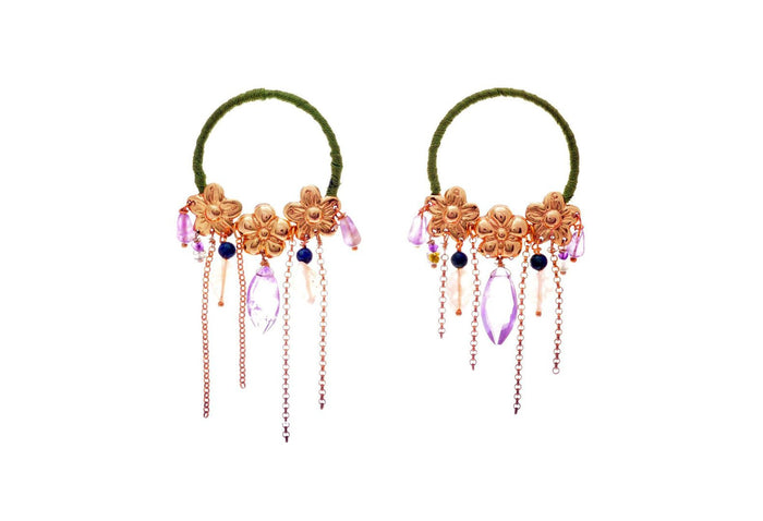 Jardin Cascada Lila Earrings, Valentina Rosenthal Jewelry, Found By Lesetta