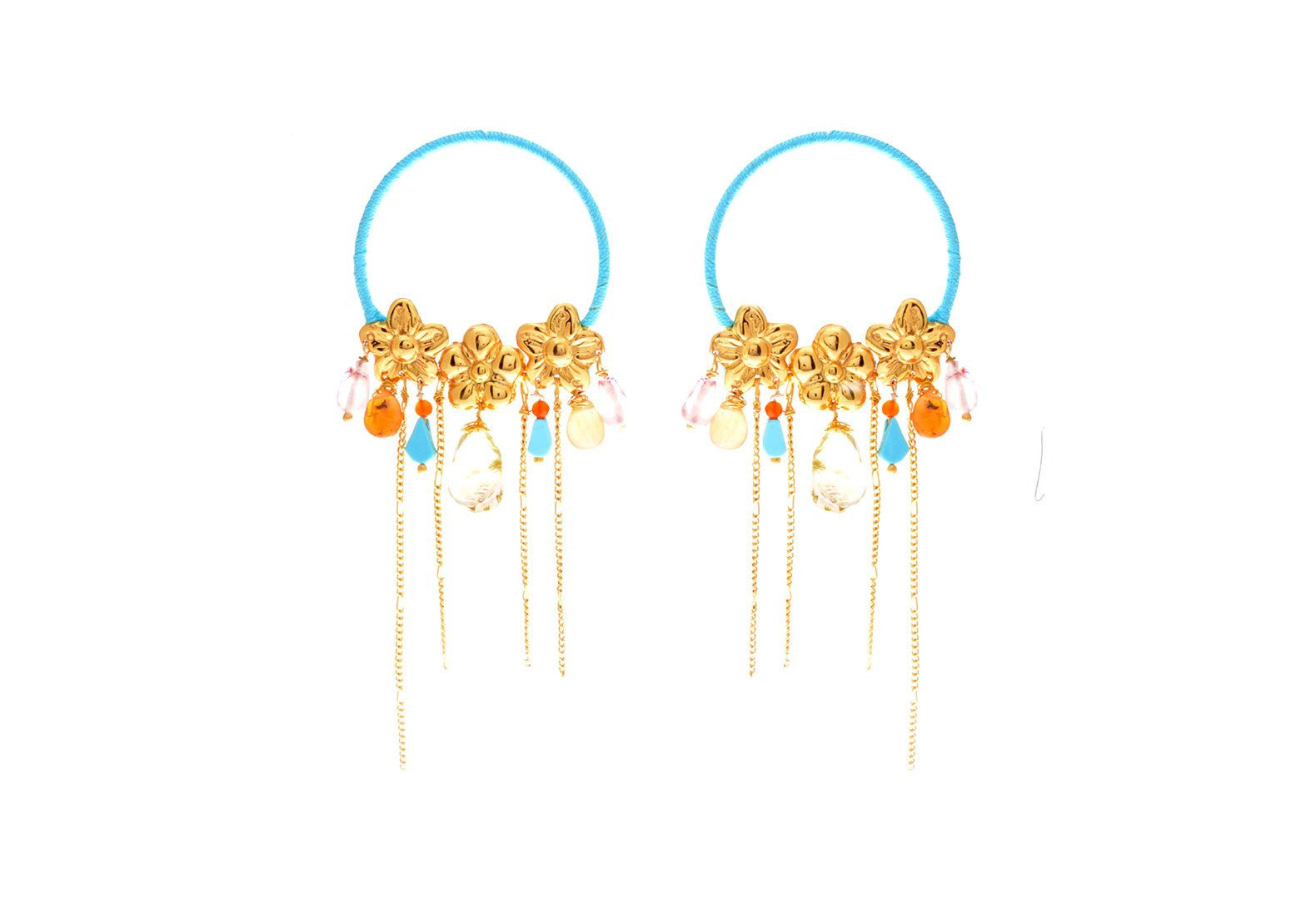 Jardin Cascada Sol Earrings - Lesetta