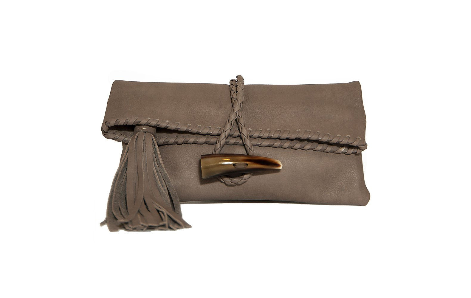 Bohemian Leather Clutch