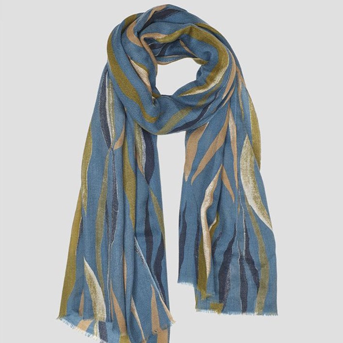 Leaves Cashmere Scarf