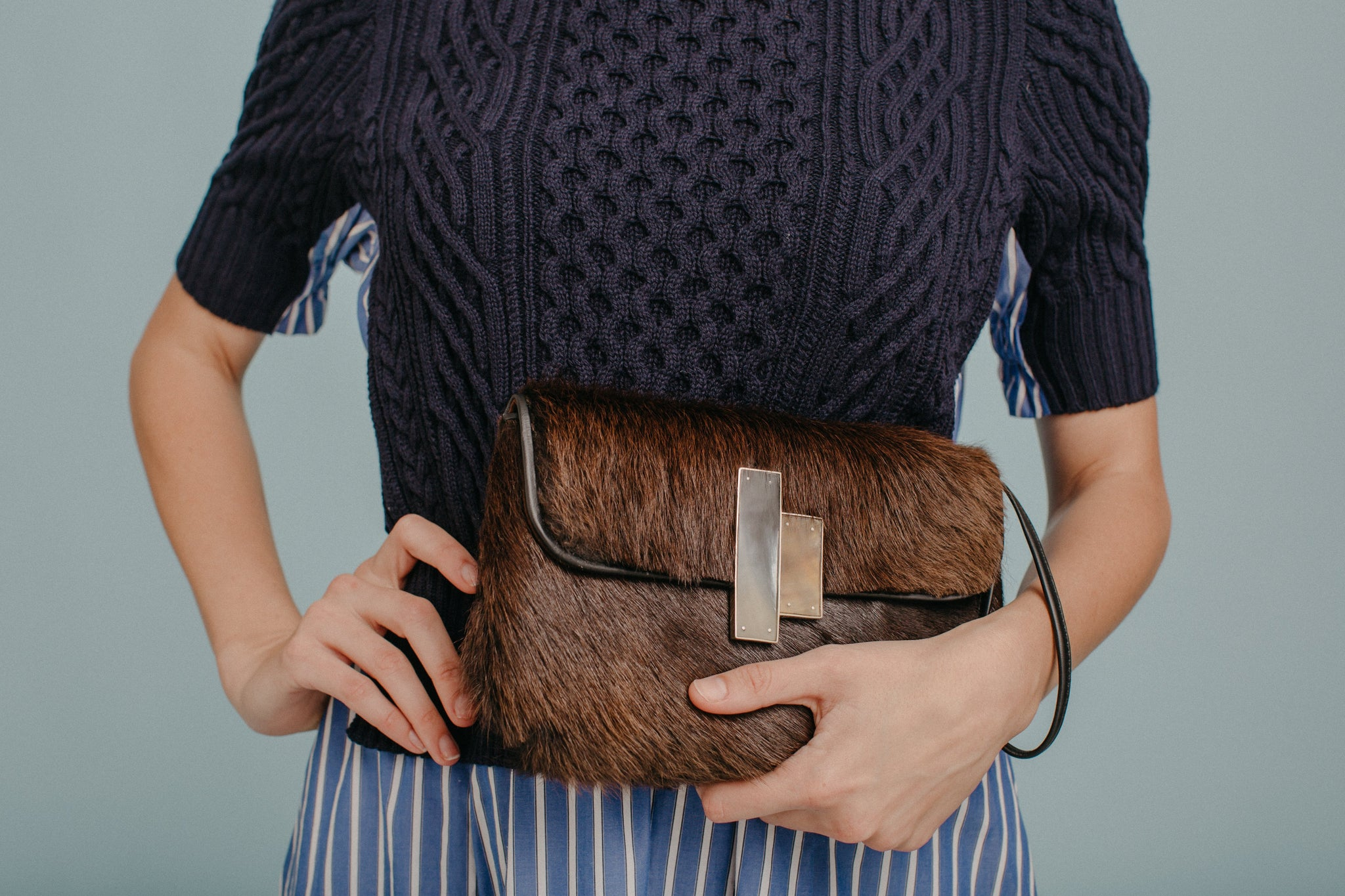 Brown Nite Pony Clutch Wristlet - Lesetta