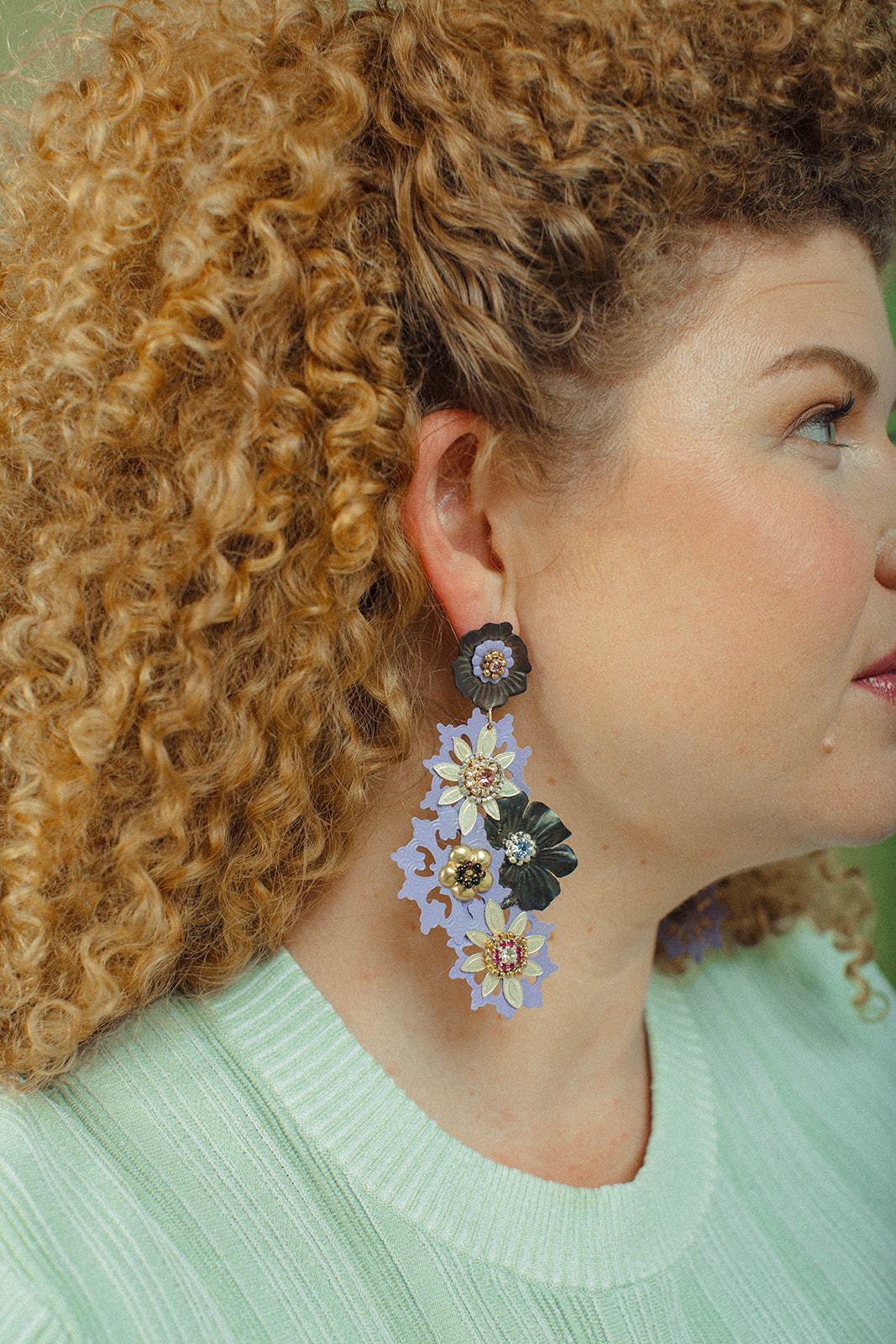 MultiFlora Lila Earrings - Lesetta