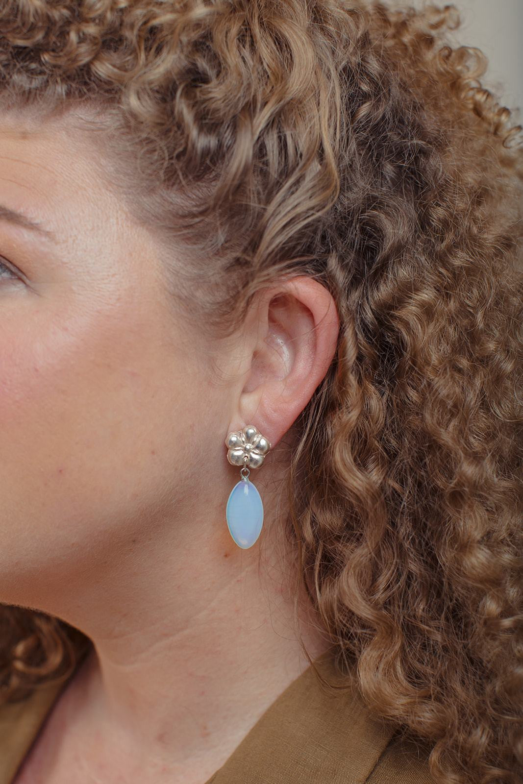 Little Flora Moonstone Earrings