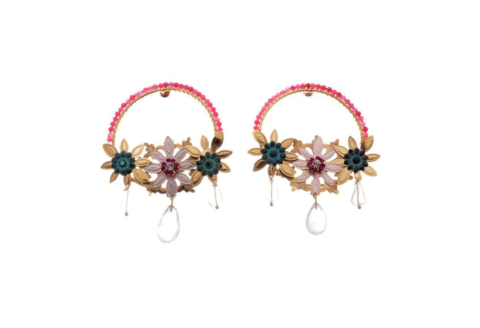 Paraiso Florido Dia Earrings, Valentina Rosenthal Jewelry, Found By Lesetta