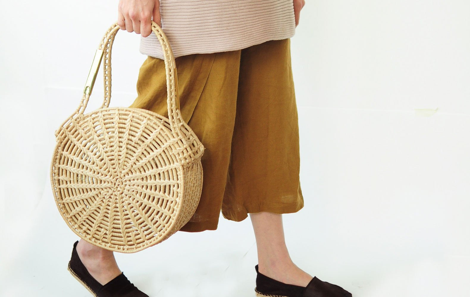 Palm Leaf Handmade Basket Handbags