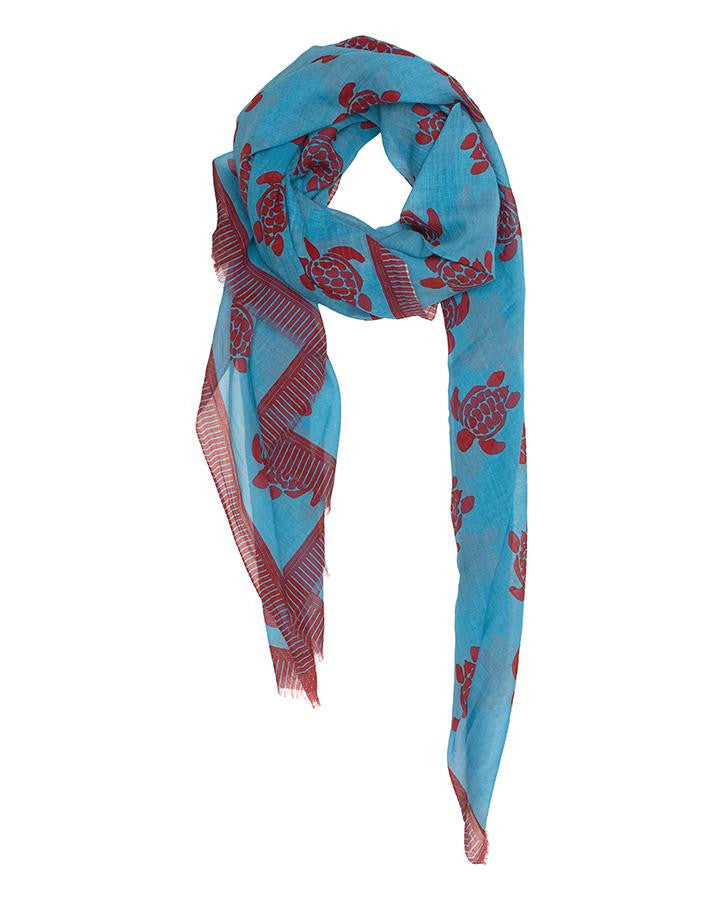 Turtles Cotton Scarf - Lesetta