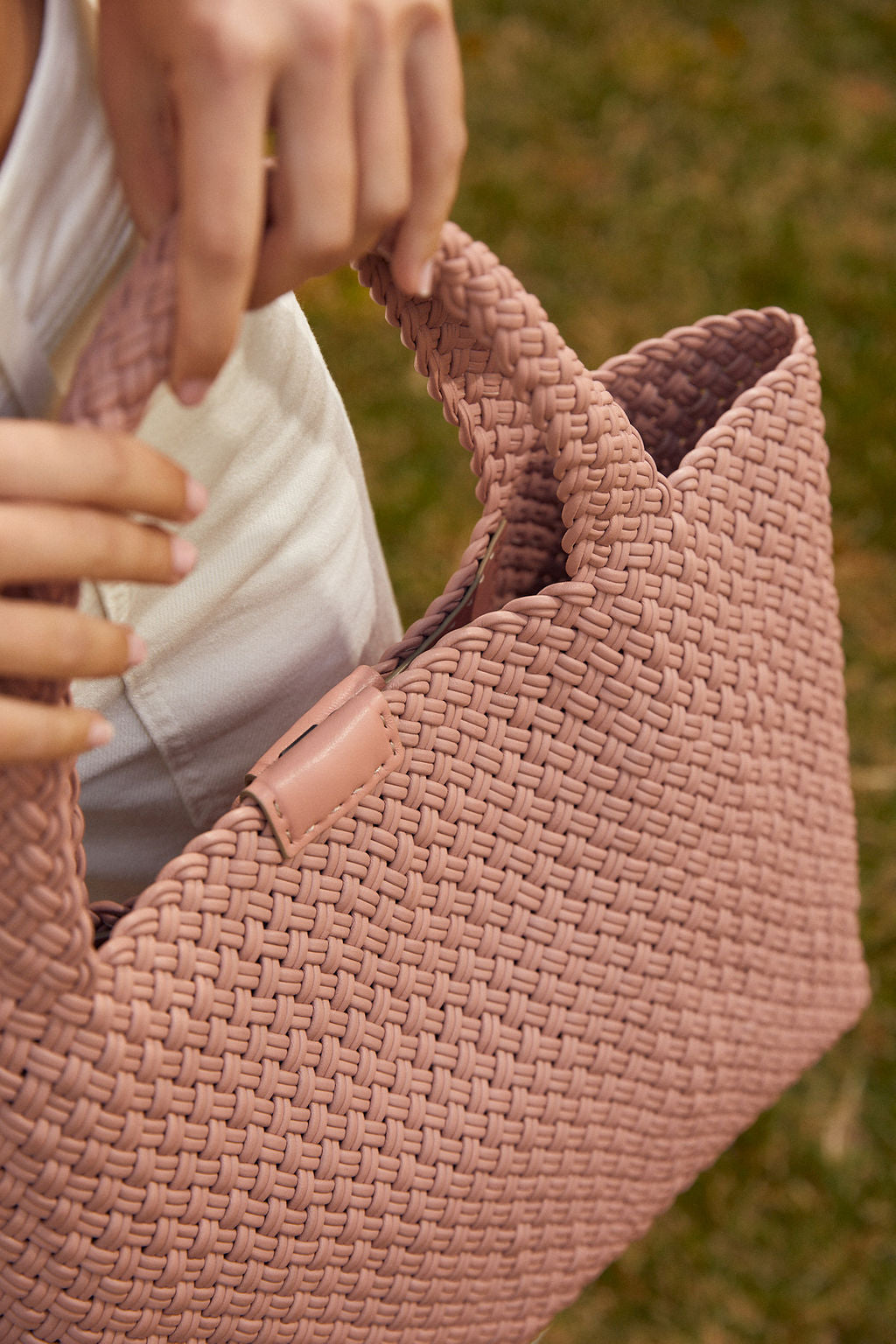 Rosa Woven Leather Tote