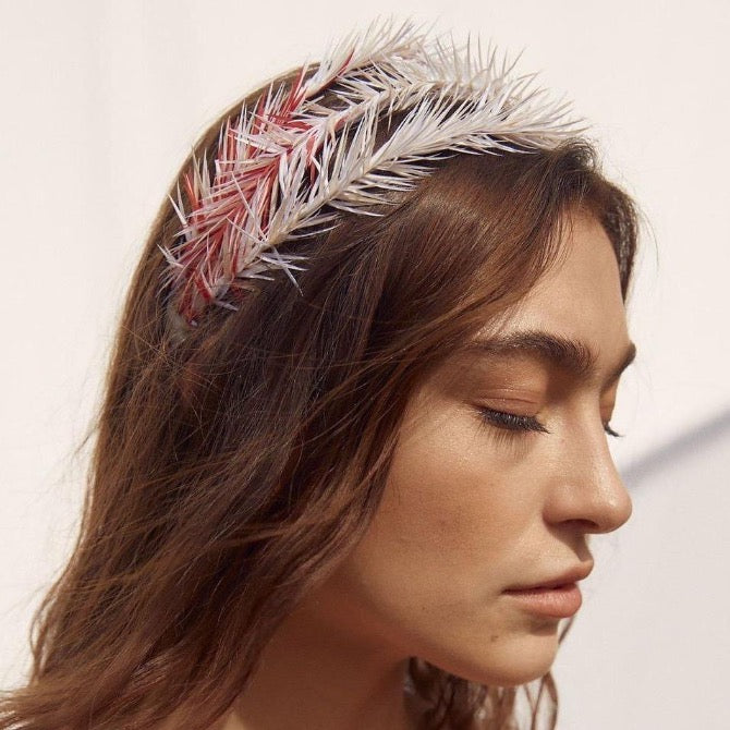 Goose Feather Triple Tier Headband