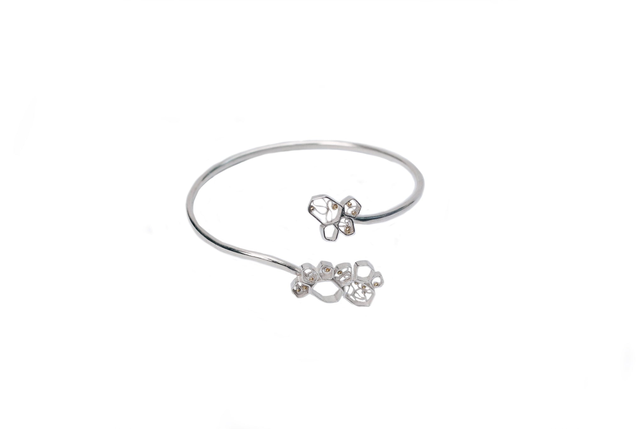 Cells Gold and Silver Bracelet, Valentina Caprini, Found By Lesetta