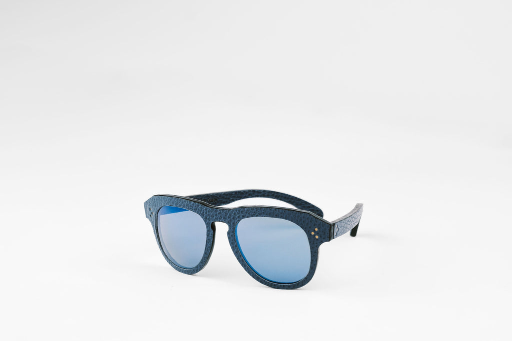 Nereo Leather Sunglasses