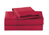 UNIQUEHOME 100% cotton 4pcs bedsheet set, CBS200 BURGUNDY