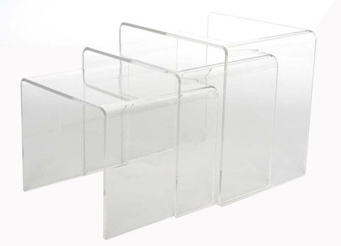 Baxton Studio Acrylic Nesting Tables, Clear