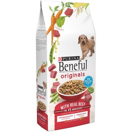 Beneful Original Dog Food with Real Beef, 100% balanced nutrition for Adult Dogs 3.5 lb (Pack of 2)
