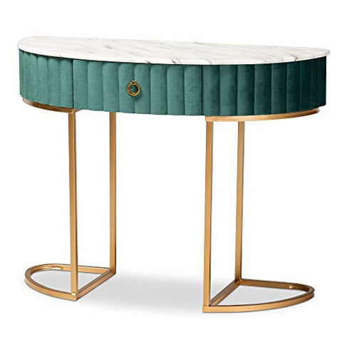 Baxton Studio Console Tables, Green/Gold