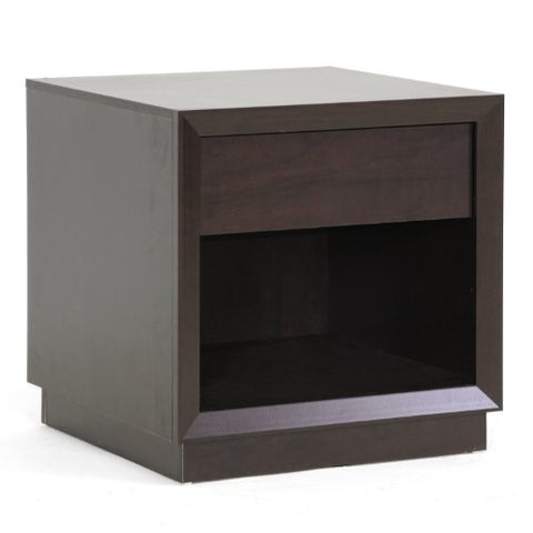 Baxton Studio Girvin Modern Accent Table and Nightstand, Brown