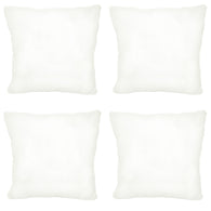 4 Decorative Pillow Throw Insert Square 20x20 Inch Euro Sham Standard, White