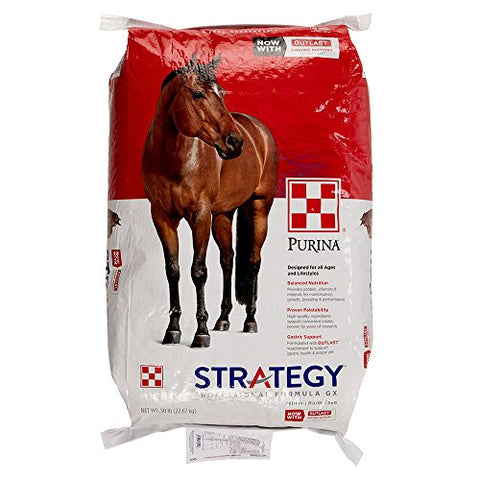 Dogswell Purina Mills Horse Strategy 50 lb Horse Food, 1 Pack, One Size