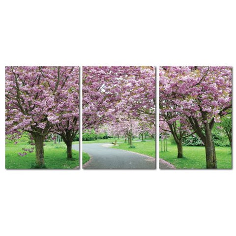 Baxton Studio DE-3062ABC Painting Artwork, 16L x 1W x 24H, Spring in Bloom
