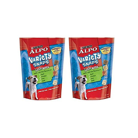 ALPO Variety Snaps Little Bites Dog Treats with Beef, Chicken, Liver & Lamb Flavors 60 oz. Pouch (2 Pack)