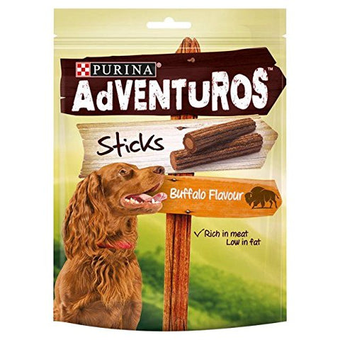 Adventuros Dog Treats Buffalo Flavour Sticks 120g (Pack of 2)
