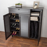 Baxton Studio Pocillo Wood Shoe Storage Cabinet, Brown