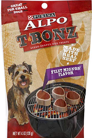 Alpo TBonz Filet Mignon Flavor Steak-Shaped Dog Treats Filet Mignon Flavor