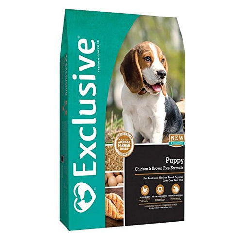 Exclusive | Puppy Food | Chicken and Brown Rice Recipe | Nutritionally Complete Dog Food - 5 Pound (5 lb) Bag