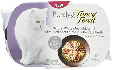 Fancy Feast Appetizers Natural White Meat Chicken And Shredded Beef Cat Food, 2-Ounce Pouch, Pack Of 10