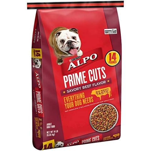 ALPO Prime Cuts Savory Beef Flavor Adult Dog Food 4 lb. Bag