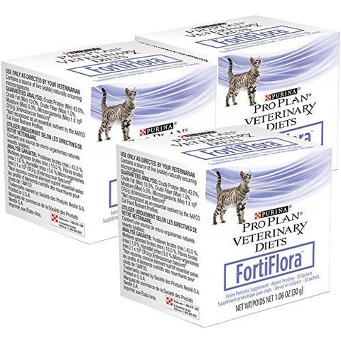 30 Gm, Pro Plan Veterinary Diets Fortiflora for Cats, Pack of 3