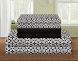 UNIQUEHOME 85 g  6pcs bedsheet set,  print, 6BEP#27 (black)