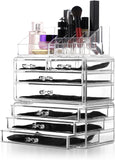 Felicite Home Acrylic Jewelry and Cosmetic Storage Makeup Organizer Set, 3Piece