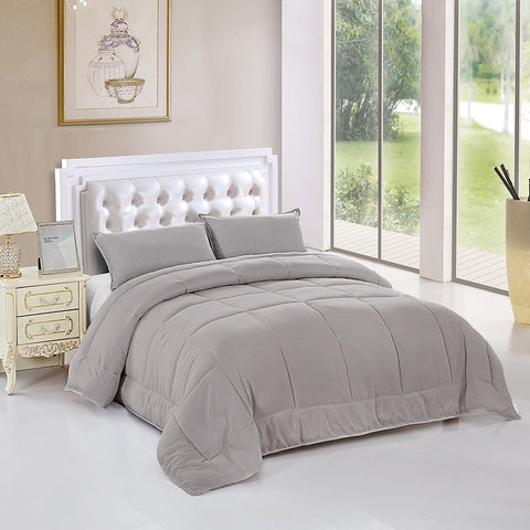 comforter set queen grey