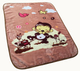 HAPPY blanket, 871# pink/brown/blue
