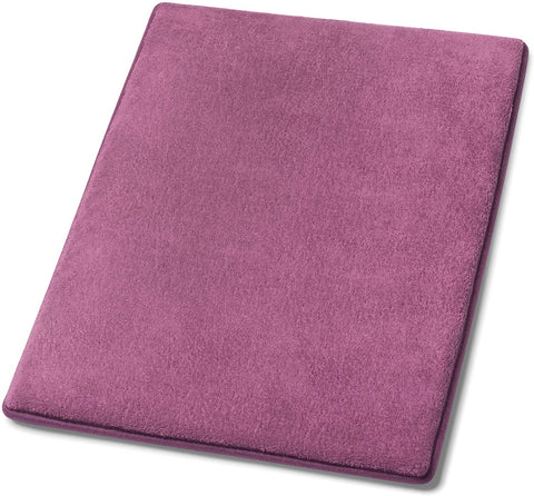 Simple Deluxe Plum Purple Bath or Kitchen Mat, Memory Foam Rug, Non Slip Backing, Washable, Absorbent 16x22 Plum