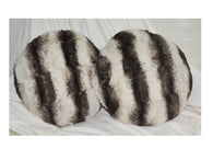 LUCY'S Faux Fur Plush Round Cushion, ACR-606