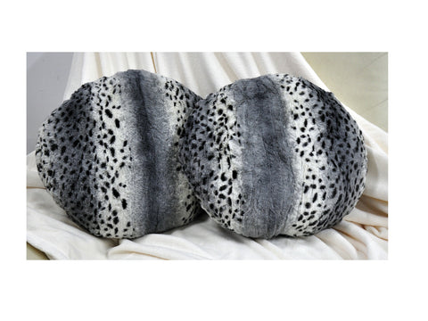 LUCY'S Faux Fur Plush Round Cushion, ACR-607